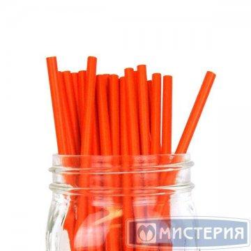 Трубочки бумажные Рэд цвет красный d=6мм L = 195мм 250 шт/уп 4 уп/кор GVS-48