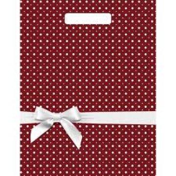 Мешки (пакеты) с вырубной ручкой 31х40+6 (60) Тико глянец Горох подарочный (0,050/0,500)