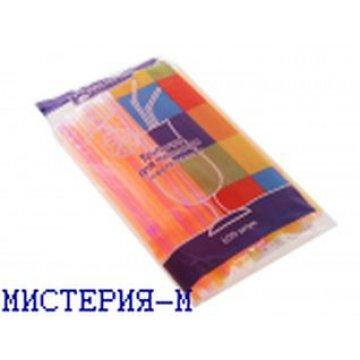 Трубочки д/коктейля гофр. разноцвет. d=5мм L=210мм, ПП 1000шт/уп 12уп/кор