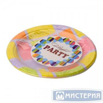Тарелка d 230мм, дизайн, Mosaica, бумага 100  шт/уп 1000 шт./кор