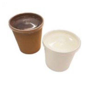 Упаковка DoEco d-75мм, h-100мм, 445мл ECO SOUP 16W ECONOM, для супа, белая с пл. кр. 250 шт/кор
