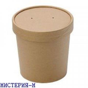 Упаковка DoEco d-70мм, h-85мм, 340мл ECO SOUP 12С, для супа, коричн. 250 шт /упак 250 шт/кор