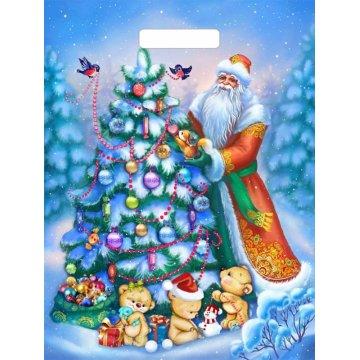 Пакет Дед и мишки-пакет вырубной 500шт/кор
