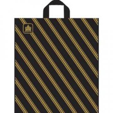 Пакет петля  40х44 см ПНД Золотая полоса 50 шт/уп 300 шт/кор