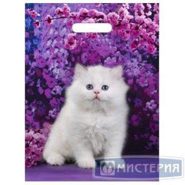 Пакет (мешок) проруб. ПВД 40х31см, 60мкм, Милый котик 50шт./уп 500шт./кор