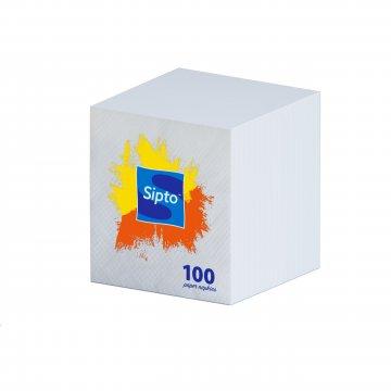 Салфетки бумажные Sipto бел., 100шт/упак 16упак/кор