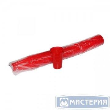 Стакан 0.2л, красн., ПП 100 шт/уп 4 000 шт./кор