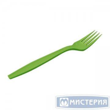 Вилка 180мм, зелён., кукурузный крахмал 50 шт/упак. 20 упак/кор