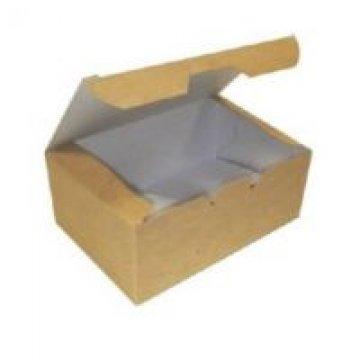 Коробка на вынос ECO FAST FOOD BOX L 150х91х70 мм крафт без печати 400 шт/уп 400 шт/кор