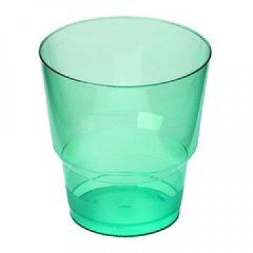181050/ Стакан д/хол 0.20л Кристалл зеленый, ПС  6 шт/уп
