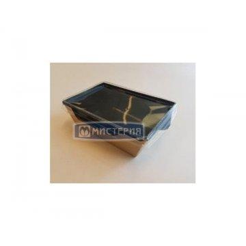 Коробка DoEco 207х127х55мм ECO OpSalad 800 Black Edition,(Салатник),коричн/черный 50шт/уп 200шт/кор