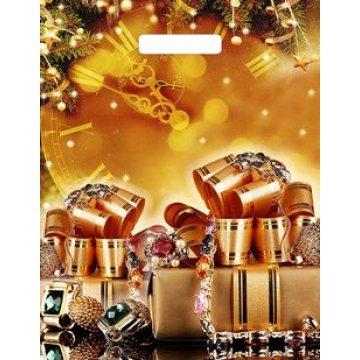 Пакет проруб. 31х40см, ПВД, Драгоценные подарки, ламинат, 60мкм 50 шт/уп 500 шт/кор