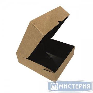 Коробка DoEco 200х200х55мм ECO TABOX PRO 1555 Black Edition черный без окна 25шт/уп 125шт/кор