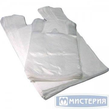 Пакет майка 28+14х50см 12мкм, белая, ПНД 100 шт/уп 2 000 шт/кор