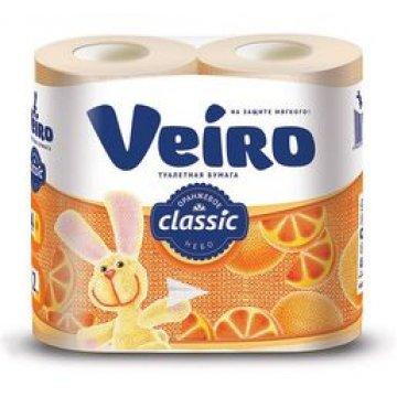 Туалетная бумага Linia VEIRO Classic абрикосовая 2сл. 4шт. 4 шт/уп 12 уп/кор