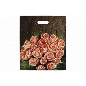 38х45+6 (60) Мешки (пакеты) с вырубной усил. ручкой Тико глянец Розы после дождя (0,050/0,500)
