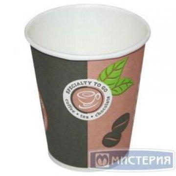 Стакан бумажный  250мл ( 1000шт./кор.) (дизайн coffe).