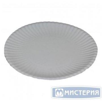 Тарелка d 230мм, 250г/м2, бел., мелован. картон 100 шт./уп. 500 шт./кор