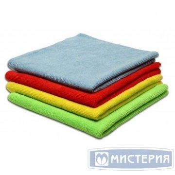 Салфетка микрофибра 30х30см универсальная зеленая 1 шт/упак 300 шт/уп