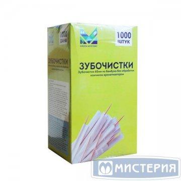 Зубочистки 65 мм., бамбук в инд. ПП уп.1000 шт/упак 1 000 шт/уп 30 уп/кор