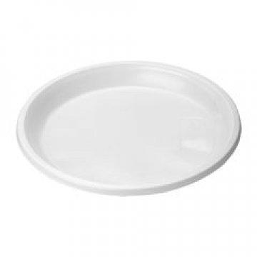 183040 Тарелка, d 205мм, белая в цветной пленке, 12 шт/уп