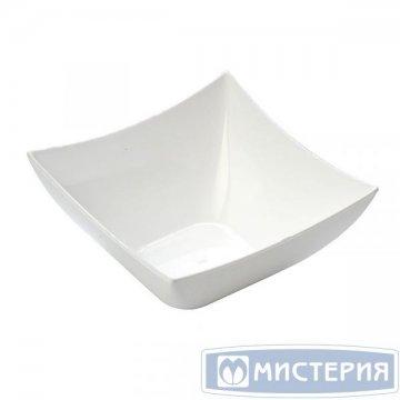Форма д/фуршетов, 90мл, 70х70мм,, Square, бел., ПС 25 шт/уп 20 уп/кор