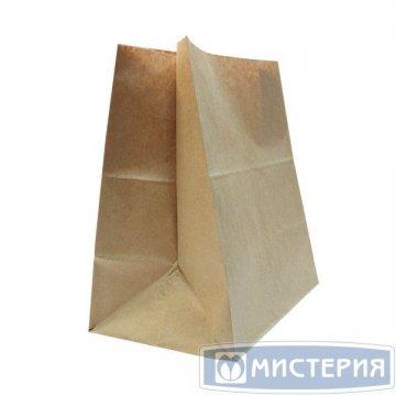 Пакеты на вынос (320+200)х340мм коричн.,70г/м2, крафт бум. б/ручек 500 шт./уп. 500 шт./кор.