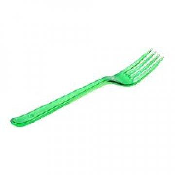 Вилка 180мм, зелён. (салат), кристалл, ПС 50  шт/уп 900 шт/кор