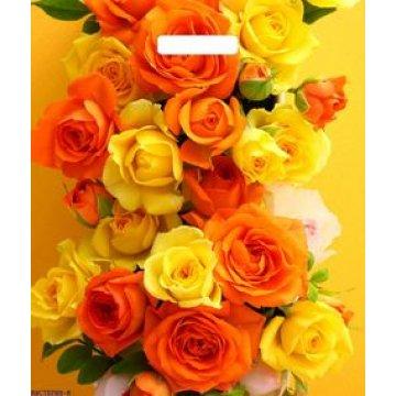 Пакет (мешок) проруб. лам. ПВД 45х38см, 60мкм, Розы Оранж 50 шт./уп. 500  шт/кор
