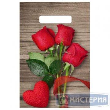 Пакет (мешок) проруб ПВД 30х20см, 30мкм Свежие розы 100  шт/уп 3000 шт/кор