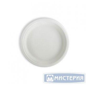 Тарелка плоская из сахарного тростника 225мм  450шт/упак