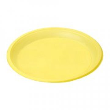 183210 Тарелка d 210мм, желтая, ПС  12 шт/уп