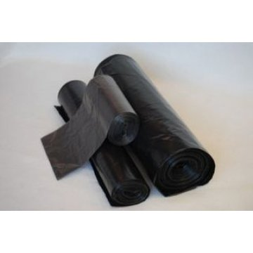 Мешок д/мусора 180л (70+20)х110см ПВД черный 10 шт/рул. Суперпрочный 10 шт/рул 25 рул/кор