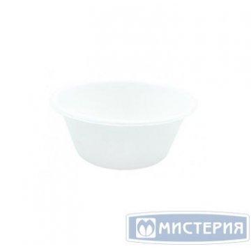 Тарелка 240мл, кругл., d 112мм, h 46мм, глубок., бел., сахарный тростник 125 шт/упак. 8 упак/кор