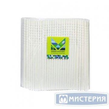 Трубочки бумажные с изгибом White, цвет белый, d=6мм L = 195мм 250 шт/уп 20 уп/кор