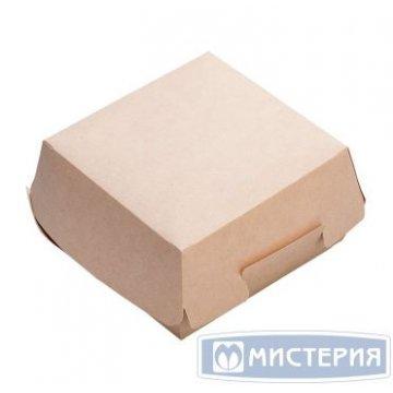 Коробка д/бургера ECO BURGER M крафт внутр 100х100х60мм (верх 115х115мм) 150 шт/уп 150 шт/кор