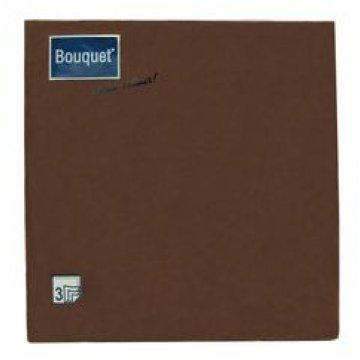 Салфетки 33х33см, 3 сл., шоколад, бумага 20 упак/кор 12уп./кор