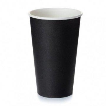 450/500мл Стакан бумажный Чёрный(25шт/уп) Д90мм (25/1000)