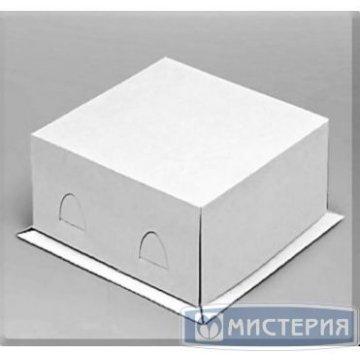 Коробка Pasticciere 300х300х190мм XW 190 Хром Эрзац, белый 100  шт/уп 100  шт/кор