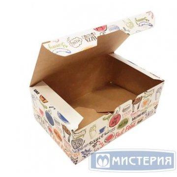 Коробка на вынос ECO FAST FOOD BOX S 115х75х45 мм крафт без печати 400 шт/уп 400 шт./кор