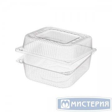 Упаковка 1(0.8+0.2)л, квадратн., внеш. 152х152х86мм, внутр. 127х127х81мм, прозрачн., ОПС 570 шт./кор