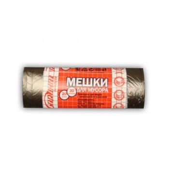 Мешок (пакет) д/мусора 60л 60х70см черный ПНД (ЭКОНОМ) 20 шт/рул 50 рул/кор