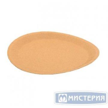 Тарелка d 180мм, ECO PLATE, крафт, картон 100 шт/уп 900 шт/кор