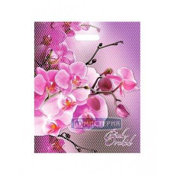 Пакет (мешок) проруб. ПВД 47х38см, 60мкм, Орхидея розовая 25шт/уп 1000 шт/кор