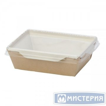 Коробка DoEco 150х150х50мм ECO OpSalad 900, (Салатник), коричн. 200 шт./уп. 200 шт/кор
