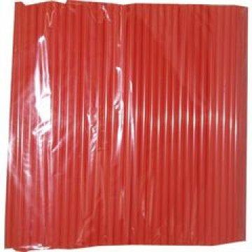 Трубочки д/кокт.прямые d=8мм L=240мм, красные  ПП  250шт/уп  23 уп/кор