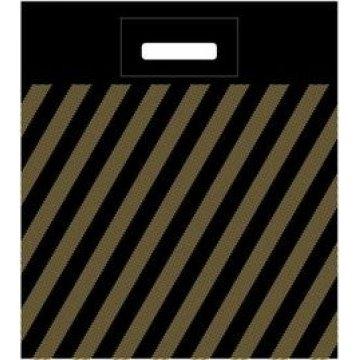 Пакет (мешок) проруб. ПВД 40х50см, 50мкм, Золотая полоса 50шт./уп 600шт/кор