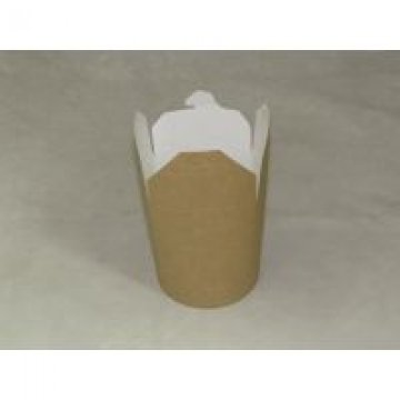 Коробка д/лапши картонная крафт,  ламинированный картон 500 мл 30шт./уп. 480 шт./кор