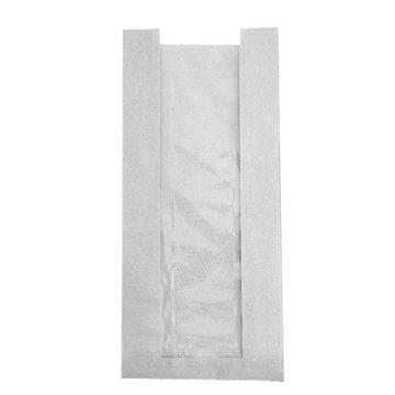 Пакет бумажный 110*40*600 б/п 40г, окно 50 ФК 1000шт/кор