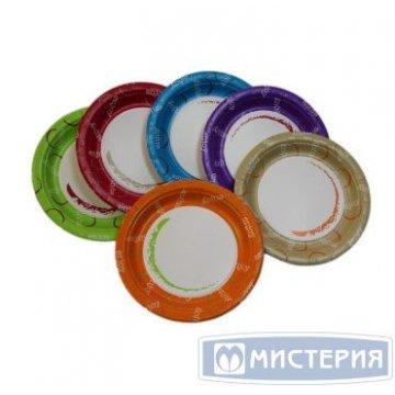 Тарелка d 230мм, Enjoy, mix 6 цветов, картон 50 шт./уп. 1000 шт./кор